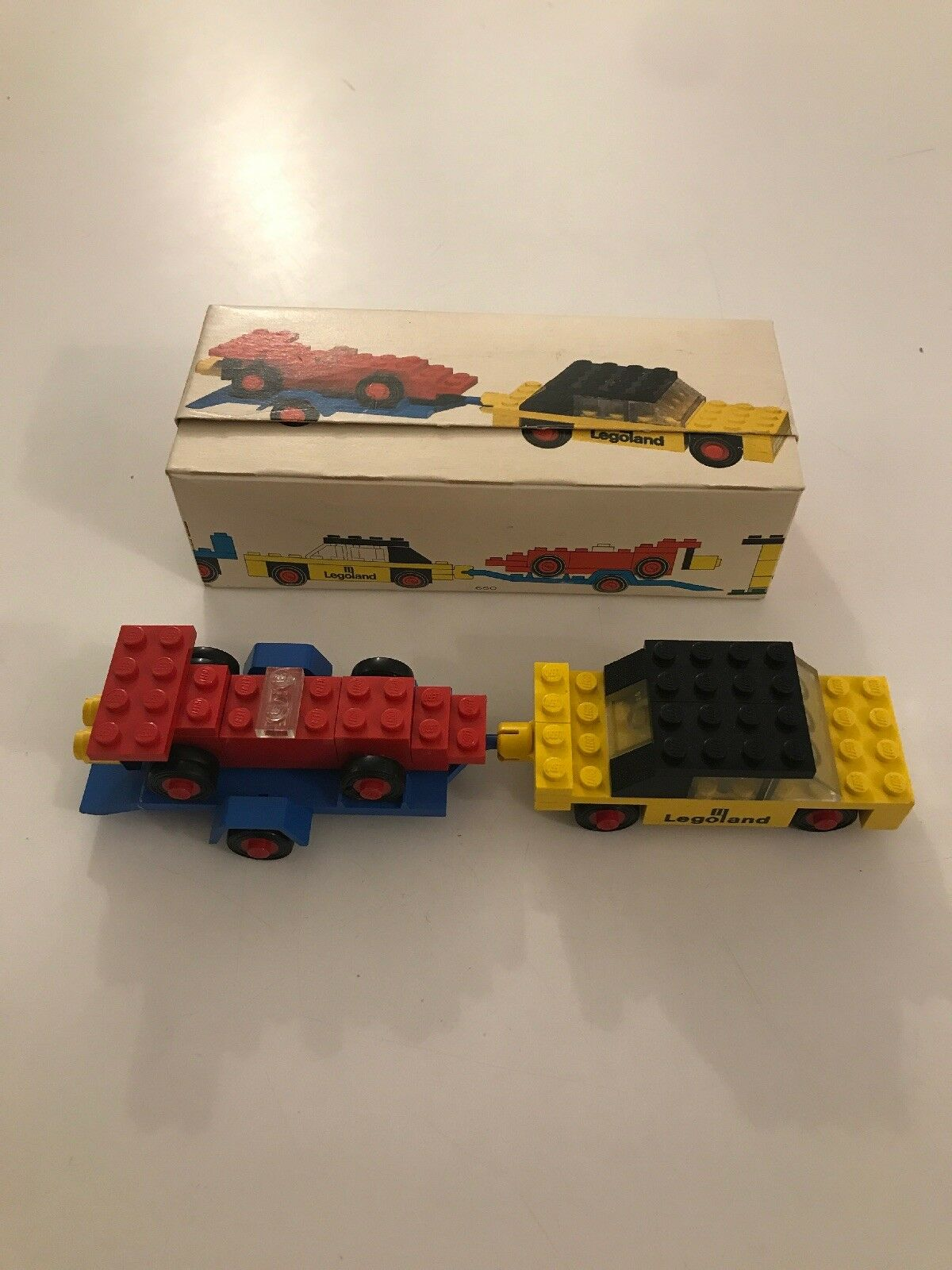 RARE Vintage LEGO Set Car with Trailer and Racing COMPLETE with BOX