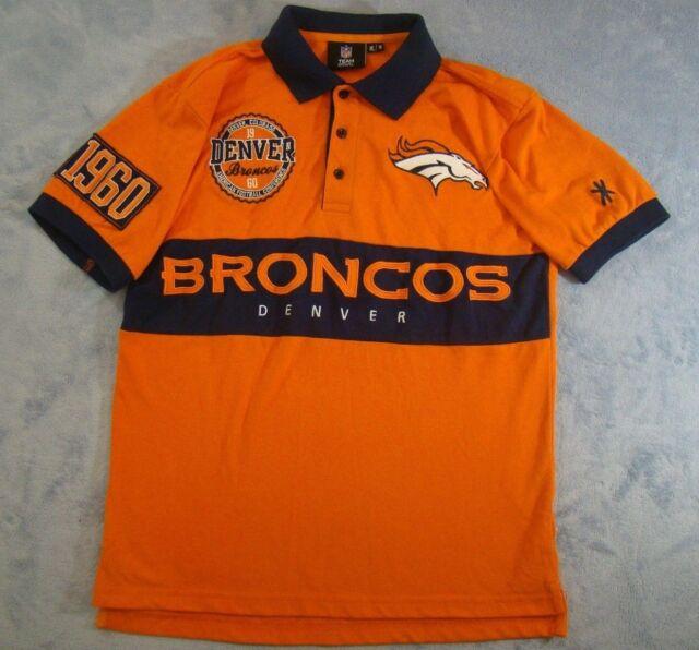 Hot MENS NFL TEAM APPAREL DENVER BRONCOS EMBROIDERED 1960 POLO SHIRT  supplier