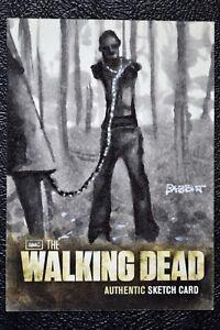 Walking-Dead-Season-2-Pet-Zombie-Walker-Sketch-Art-by-Kyle-Babbitt-Trading-Card