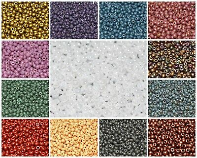 CHOOSE COLOR 10gr 8//0 Etched Seed Beads Czech Pressed Glass cca 350pcs