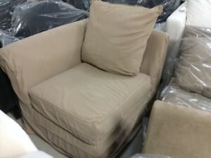 Pottery Barn Pb Charleston Slipcovered Sectional Sofa Left