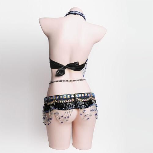 C918  Profi Bauchtanz Kostüm 2 Teile  BH Gürtel Belly Dance Neue Kollektion