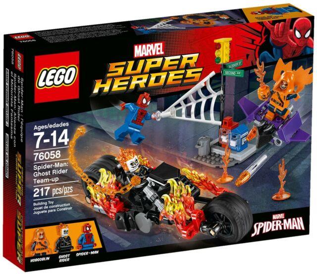 NEW LEGO Marvel Super Heroes Spider-Man Ghost Rider Team-up + Bike + Glider MINT