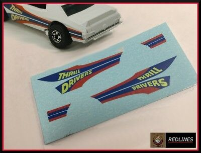 1977 Hot Wheels /'Thrill Driver/' Reproduction Decal SCR-0276