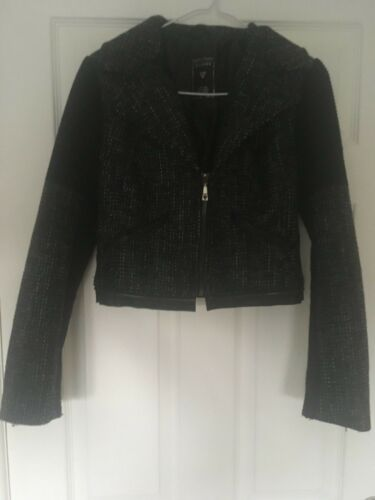 Guess fourrure différents en et détachable Peplum Black looks 3 Col Jacket rPXrqH