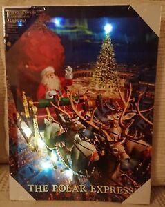 Il-Polar-Express-LED-accendere-tela-Santa-Tema-di-Natale-NUOVO