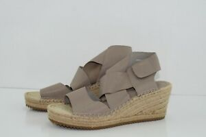 Eileen-Fisher-Willow-Wedge-Sandle-espadrille-nude-tan-Size-9-Ret-198-EUC