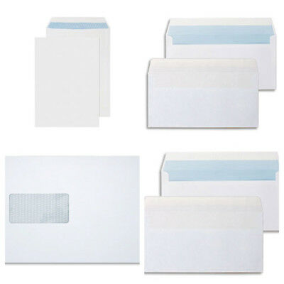 High Quality White Brown Self Seal Envelopes Plain Window DL C4 C5 C6 strong