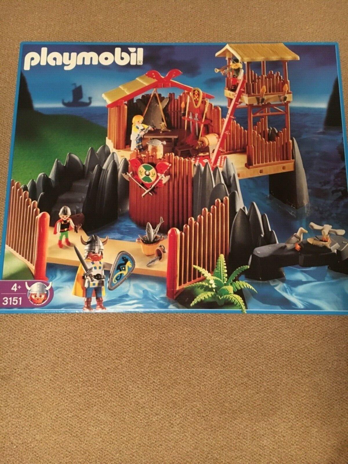 Playmobil Wikingerfestung 3151 Neu + Ungeöffnet Rarität