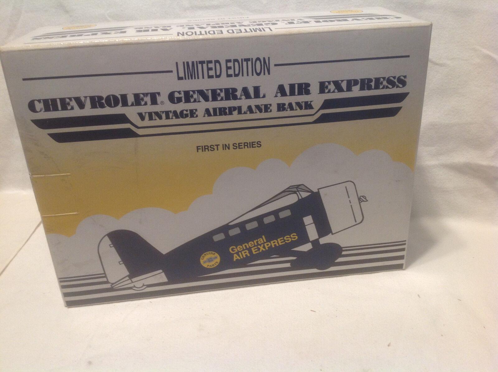 AIRPLANE CHEVROLET GENERAL AIR AIR AIR EXPRESS VINTAGE AIRPLANE BANK SPEC CAST 31bd82