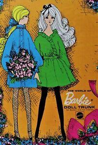 Vintage-1968-Barbie-Mattel-Doll-Trunk-Carrying-Travel-Case-collectors-item