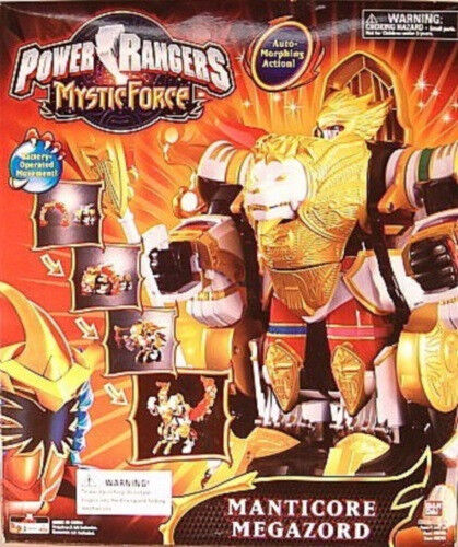 Power Rangers Mystic Force Manticore Megazord Auto Morphing Lion Phoenix Zords