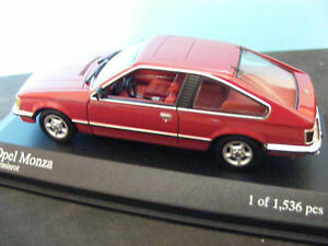 OPEL-MONZA-1980-WOW-EXTREMELY-RARE-MINICHAMPS-1-43-ONLY-1536-PCS-WORLDWIDE-NLA