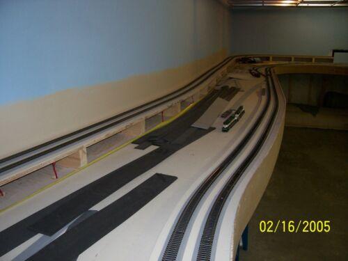 "Free Sample cork replace O Scale 1//4/"" Gray Sound Foam Track Roadbed 5pcs 30/'"