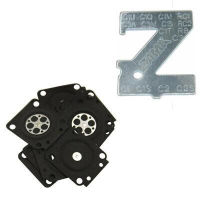10PCS Carburetor Rebuild Kit Metering Diaphragm Spare Parts For Zama A015053 n n