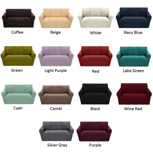 1 2 3 Seater Suede Sofa Covers Stretch Slipcover Couch Chair Furniture Protector