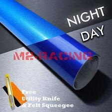 "*48""x60"" Reflective Blue DIY Vinyl Car Wrap Sticker Decal Graphic Adhesive Film"