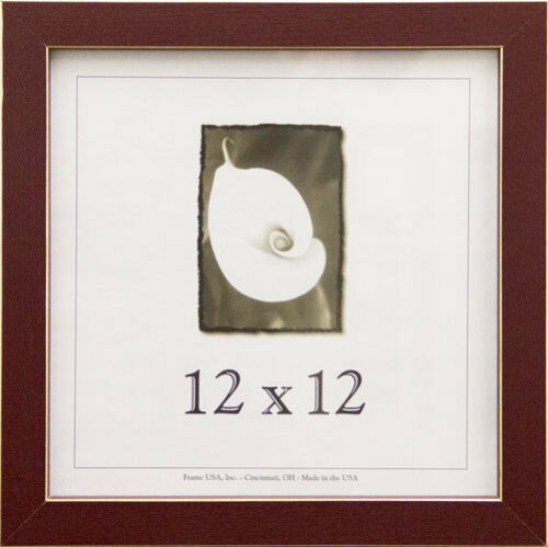Available in 4 Colors! 12x12 Clean Cut Wood Picture Frame w//Real Glass