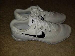 Details zu New Sz 12.5 Nike Metcon 3 TB Men White Black Crossfit Cross Training 898055 100