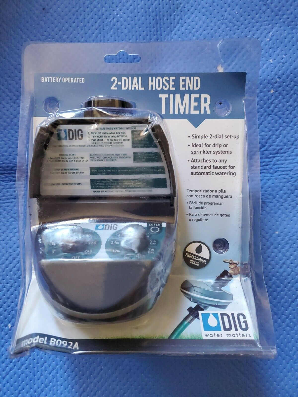 Push Button Programmable Hose Thread Watering Timer