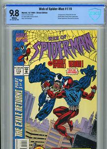 NM/MT Web of Spider-Man #119 (1994) CBCS 9.8 1st App of Kaine | Venom | Scarlet