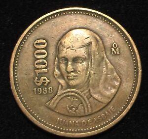 1988 Mexican Coin 1000 Ebay