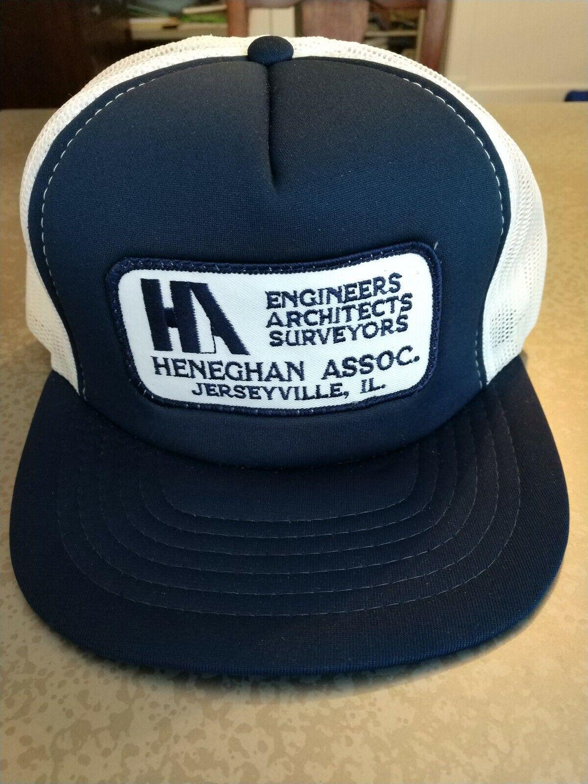 Vintage Patch Trucker hat, Heneghan Assoc., Cardinal Cap, like new