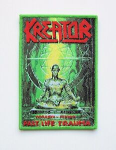 KREATOR-green-Woven-Patch-Destruction-Sodom-Morbid-Saint-Protector