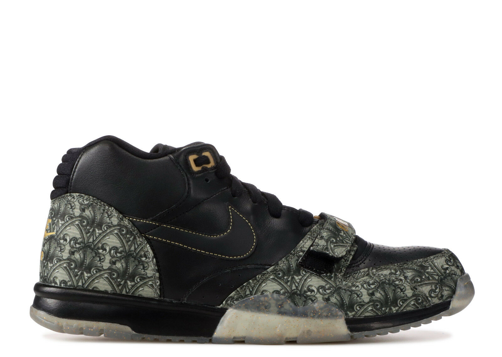 Nike Air Paid Trainer 1 Mid QS Paid Air In Full Sz 12 Black Gold More Money Currency Bo 252e9b