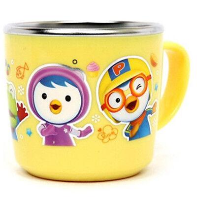Rutschfeste Pororo Fütterung Kinder Kind Baby Cup Edelstahl Korea