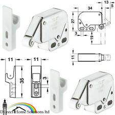 2 x Push To Open Mini Spring Catches Automatic Cabinet Caravan Door Latches Pack