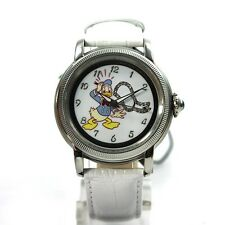 Disney Uhr Donald Duck Damenuhr Automatikuhr Lederband Strass Comicuhr Limited