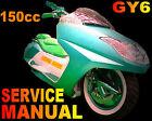 Scooter 150cc GY6 Repair Shop Manual GMI BMS SSR Bahama MC Zuma all MC Models