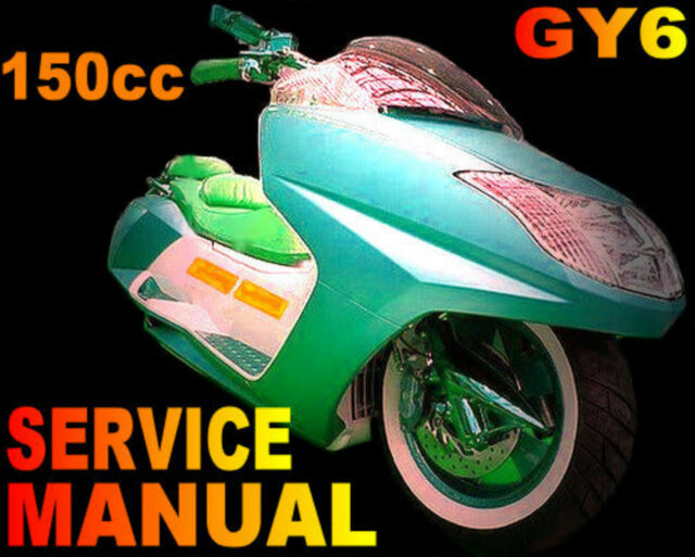 Scooter 150cc 150 Gy6 QMJ Service Repair Shop Manual on CD Haotian ...