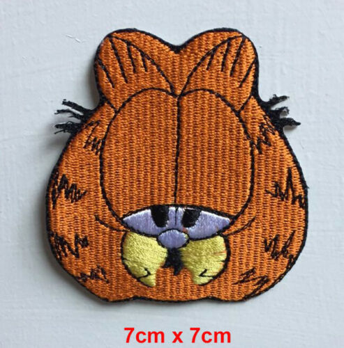 Garfield cartoon large badge clothes Embroidered Iron on Sew on Patch