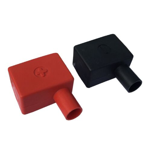 2 x Battery Terminal Covers Positive Red LH LH Insulation /& Negative Black