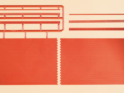 Auhagen 41205 piste h0 brique des murs avec zahnfriesvarianten rouge #neu en OVP #
