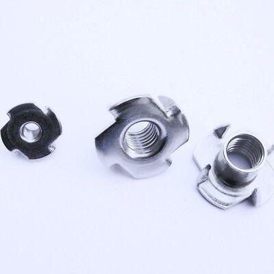 5 Einschlagmuttern für Holz EDELSTAHL rostfrei A2 M6 T-nuts stainless steel