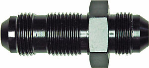 A.N. -08 Straight Bulkhead (AN832-08D) Black Aluminum Adapter Fitting