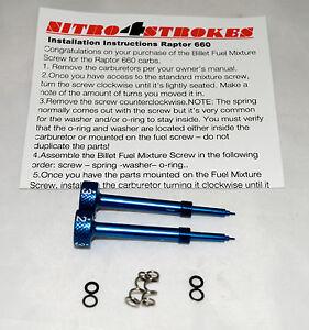 Raptor-660-Billet-Fuel-Screws-for-the-stock-carbs-carburetor-jets-jetting-blue