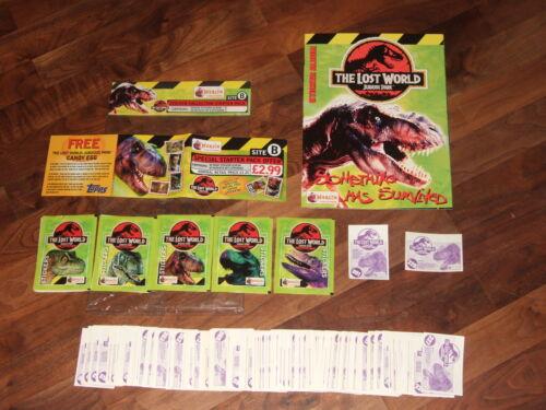 The Lost World,Jurassic Park 1997 Merlin Complete Empty Sticker Album &Loose Set