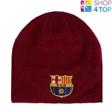 befe191d0d3 FC BARCELONA KNITTED BEANIE HAT BURGUNDY CAP FOOTBALL SOCCER CLUB TEAM NEW