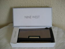 Nine West NIB Silver & Black Wallet~Checkbook Credit Card~ID Zipper Coin Pocket
