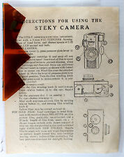 Original Steky Camera Instructions - one-sided, no print date