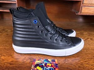 Converse All Star High Mens Waterproof Quilted Leather Boot Black Sz ... 09f976d69