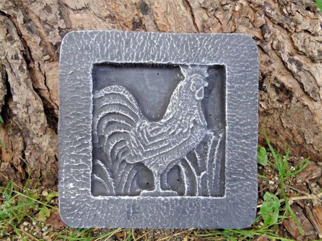 Rooster tile plastic mould 8