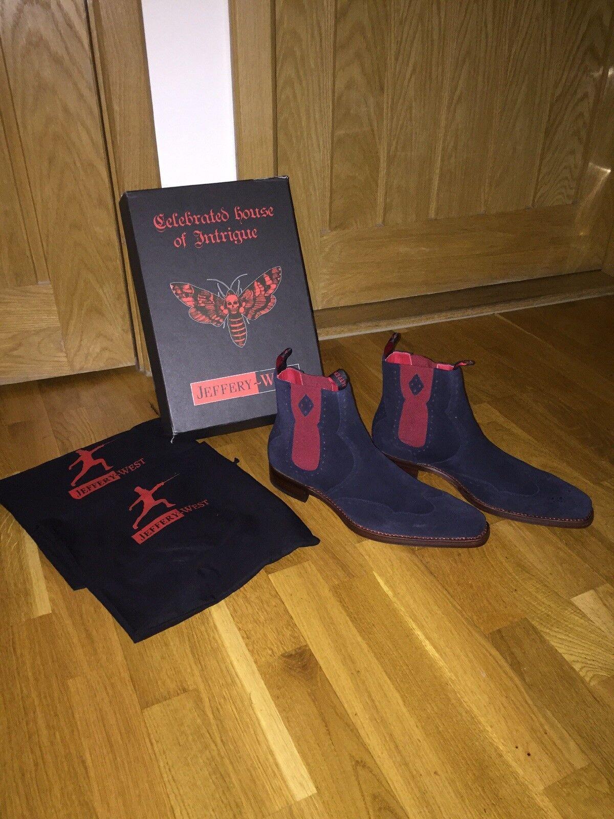 JEFFREY West Dexter NOVIKOV Stivali Chelsea in pelle scamosciata colore colore colore navy taglia EUR 43 e63314
