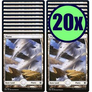 20x PLAINS 267 Full Art Basic Land NM/LP MTG Magic the Gathering Zendikar Rising