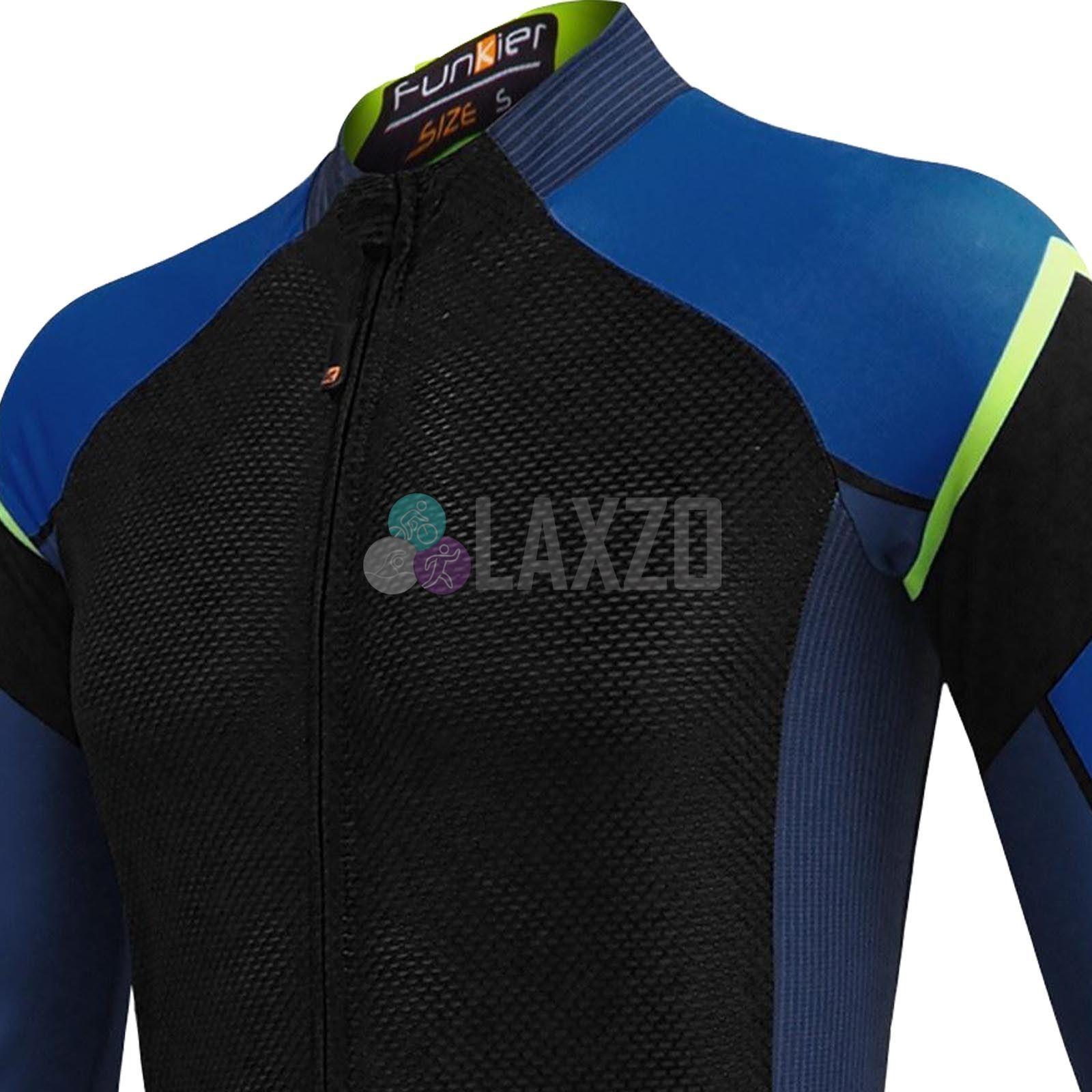 Funkier Isparo Herren Elite Langärmeliges Jersey Schwarz   Blau Blau Blau (J 801 LW) 806d53