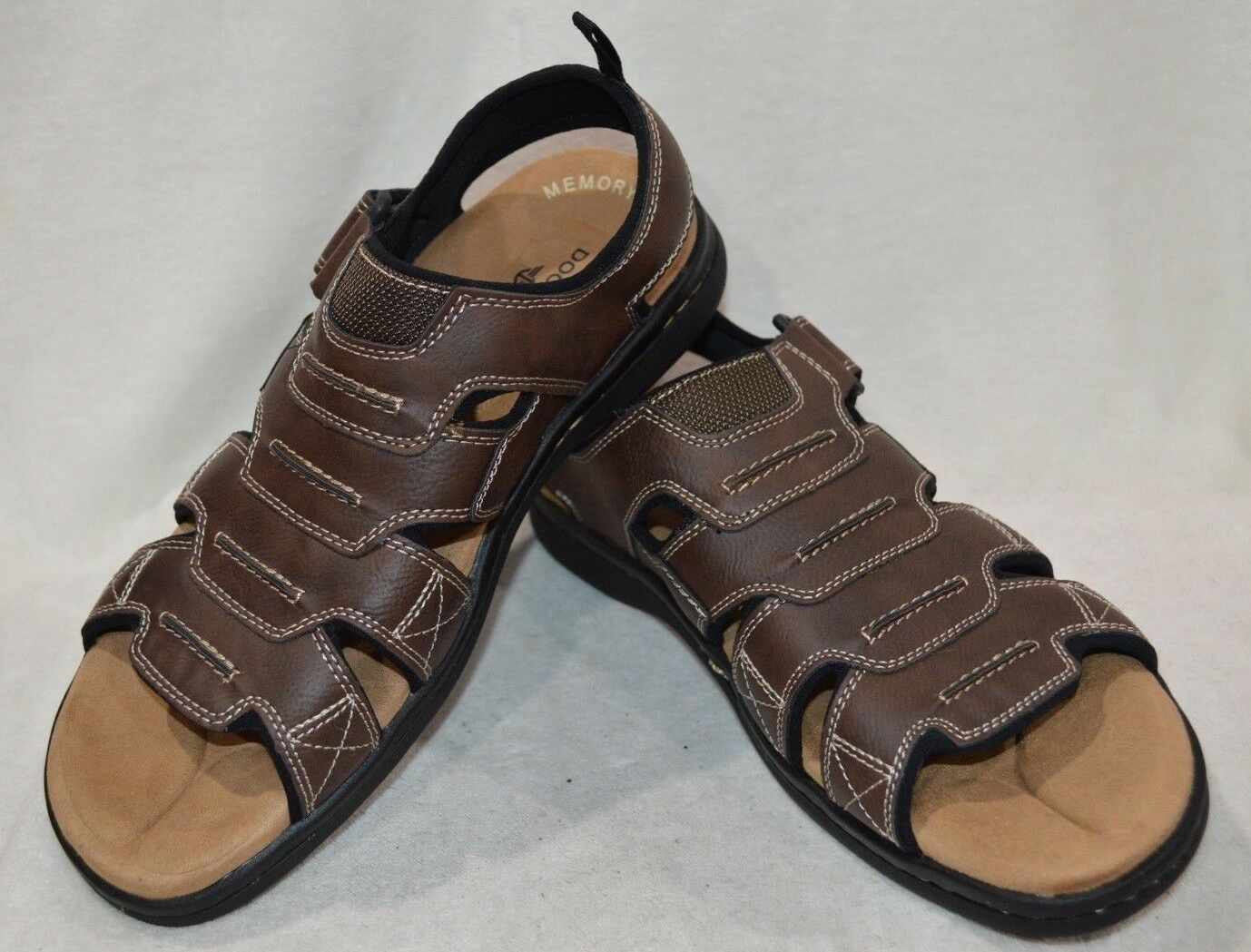 ecbe1e850682d4 Dockers Men s Men s Men s Shorewood Brown Memory Foam Fisherman Sandals-Sz  9 10